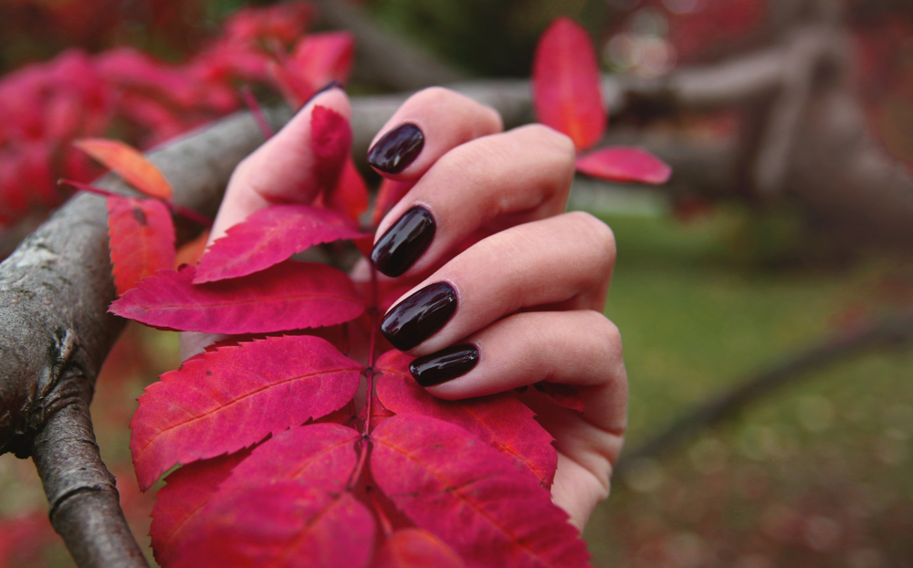 Garnet colored nails